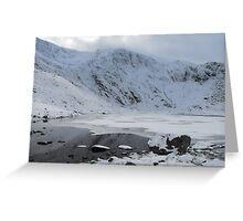 Snowdonia in Snow Greeting Card