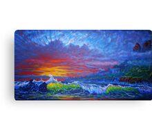Misty Sunset Canvas Print