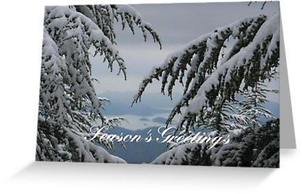 Pine Trees and Snow - Season's Greetings by taiche