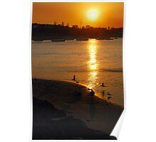 Smoky Port Sunset #1 Poster