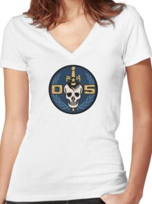 Danger 5 Emblem (Chest) Women's Fitted V-Neck T-Shirt