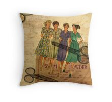 Shampoo Powder Collage Throw Pillow
