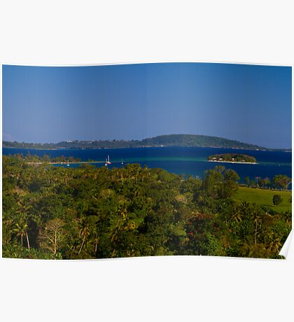 Hideaway Island from Cascades Lookout Poster