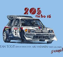 Rally Group B-Peugeot 205 Turbo 16 by dareba