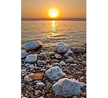 Sunset over West Bank Photographic Print