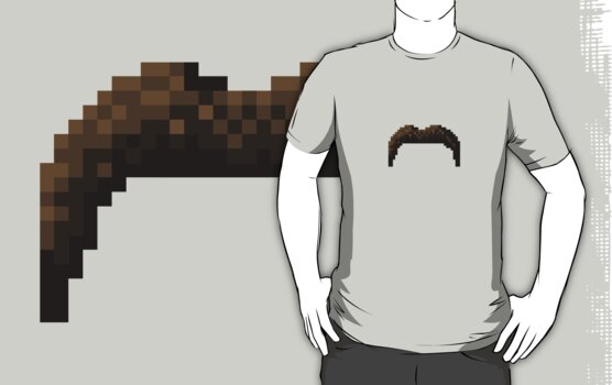 Mexican Pixel Moustache by Ollie Chanter