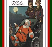 Vintage Christmas Wishes Greeting Card by taiche