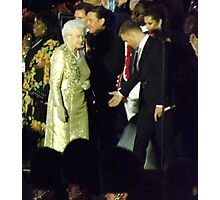Queen arriving on stage Photographic Print