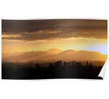 Sunset near Etty Bay Poster