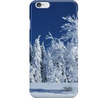The Snow Paradise Fir Trees iPhone Case/Skin