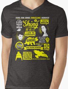 Shiny Quotes Mens V-Neck T-Shirt