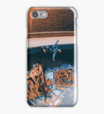 Skating at the bowl iPhone Case/Skin
