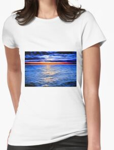 Sunset and the Sea Womens Fitted T-Shirt