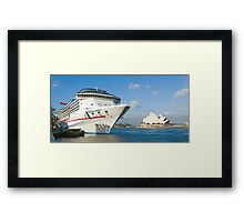 Mighty Big Ship Framed Print