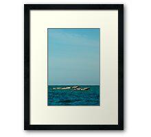Fishing boats in Zanzibar Framed Print