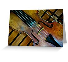 """Let life be like music."" Greeting Card"