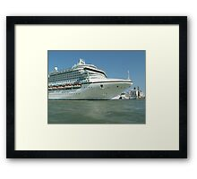 Sea liners Framed Print