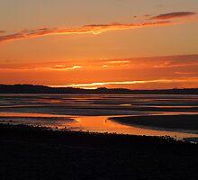 Traeth Lafan Sunset - October 2012 #8 by Graham Kidd