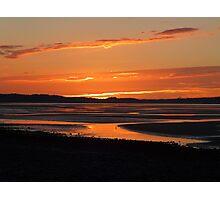 Traeth Lafan Sunset - October 2012 #8 Photographic Print