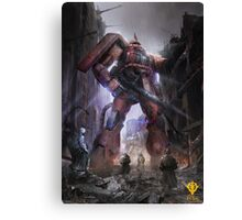 Zaku Char Aznable Custom One Year War Canvas Print
