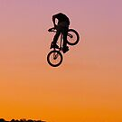 BMX sunset rider by Peter Gray