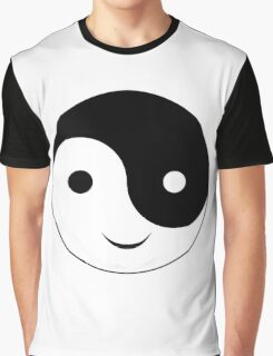 Smiley Yin Yang Graphic T-Shirt