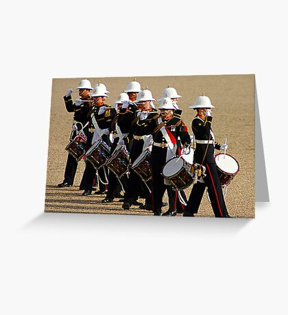 Corps of Drums - Royal Marines Greeting Card