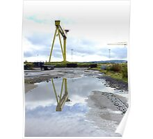 Crane Refections Harland & Wolff Poster