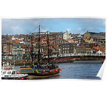 The Bark Endeavour Whitby Poster