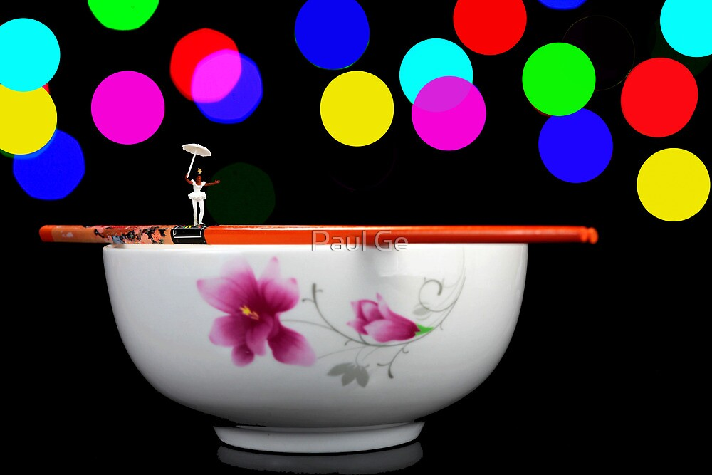 Circus balance game on chopsticks by Paul Ge