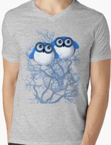 BLUE OWLS Mens V-Neck T-Shirt