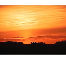 Sunset over Llandegai - from Llanfairfechan Photographic Print