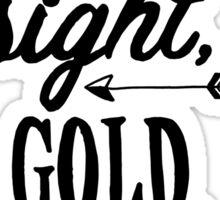 Eye, Sight, Gold. Sticker