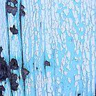 Blue Painted Wood by Karen Jayne Yousse