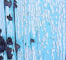 Blue Painted Wood by Karen Jayne Yousse