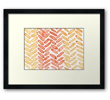 knit pattern Framed Print
