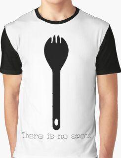 There is no spoon - Black Graphic T-Shirt