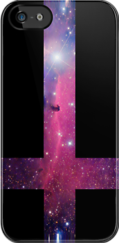 """Purple Galaxy Inverted Cross"" iPhone Cases & Skins by ..."