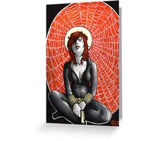 Black Widow's Web Greeting Card