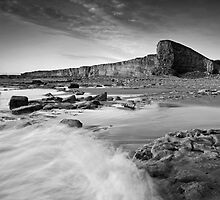 Nash Point October 004 Black & White by Paul Croxford