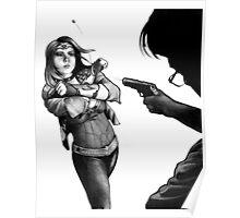 Wonder Woman Deflecting Bullets Poster
