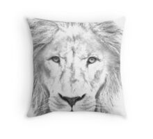 Asiatic Lions face Throw Pillow