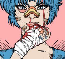 Sailor Moon- Fight Like a Girl (Sailor Mercury) Sticker