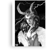 Lady Loki Enraged Canvas Print