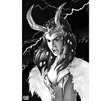 Lady Loki Enraged Photographic Print