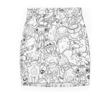 Creepies Collage Pencil Skirt