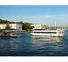 boats on bosphorus. Photographic Print