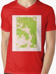USGS Topo Map Washington State WA Mount Olympus 242518 1956 62500 Mens V-Neck T-Shirt