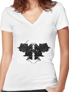InkBlot Witches Women's Fitted V-Neck T-Shirt