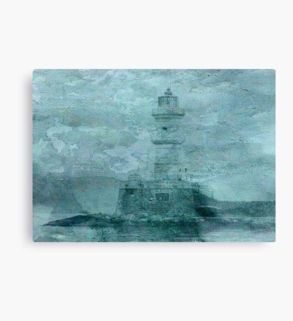 Lighthouse Impasto Canvas Print